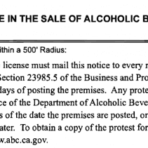 California Liquor License